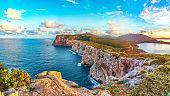Fantastic morning view on Cacccia cape.
