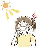 Heat stroke child girl mask