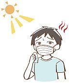 Heat stroke child boy mask