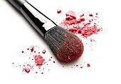 Make-up brush close-up