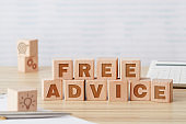 Free advice wooden blocks