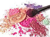 Face powder and make-up brush