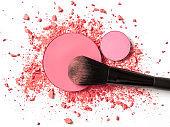 Crushed pink eye shadow
