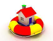 house protection concept. 3d illustration.