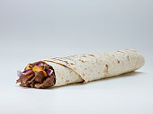 Wraps with beef and pork vegetables