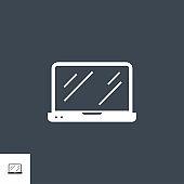 Laptop Vector Glyph Icon