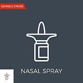 Nasal Spray Vector Icon