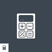 Calculator related vector glyph icon.