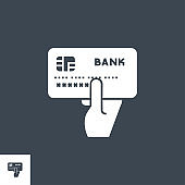 Credit Card Pay related vector glyph icon.