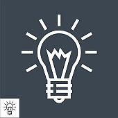 Bulb Thin Line Vector Icon