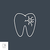 Caries Line Icon