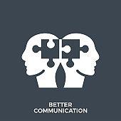 Better Communication Glyph Vector Icon.