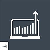 Growth Traffic Vector Glyph Icon