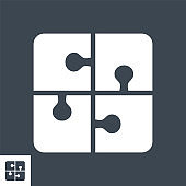 Global Solution Vector Glyph Icon