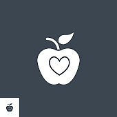 Healthy Food related vector glyph icon.