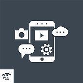 Mobile SEO Vector Glyph Icon