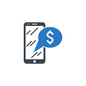 Bank Message related vector glyph icon
