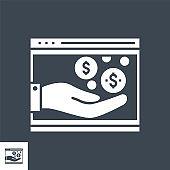 Income Vector Glyph Icon