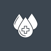 Blood Donation related vector glyph icon.