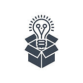 Think Outside Vector Glyph Icon