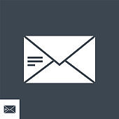 Mail Vector Glyph Icon