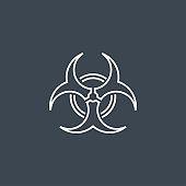 Biological Hazard Vector Icon