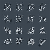 line vector icons set
