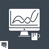 Web Analytics Vector Glyph Icon
