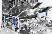 Trays in dishwasher