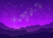 Violet space landscape.