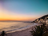 Collection of Cape Town Sunsets – Clifton and Camps Bay Beaches with the Twelve Apostles Mountains