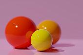 3d bright balls