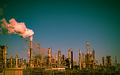 Fossil fuel petrochemical oil refinery causing Climate Change