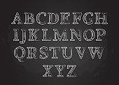 Chalk font ABC collection vector illustration