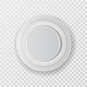 A white plastic plate
