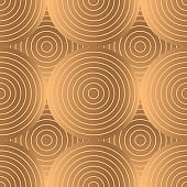 Geometric circle royal pattern seamless. Gold black luxury background vector. Round design for holiday wrapping paper