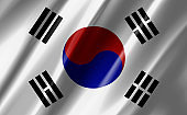 Image of a waving south korea flag.