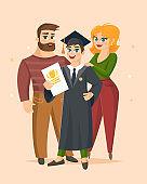 Graduation Congratulations vector illustration