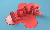 Melting Love Letters Concept