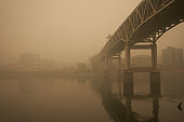 Portland Downtown Waterfront During Oregon Wildfires