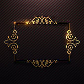 Gold shine luxury frame background
