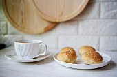 homemade buns, ready for breakfast