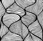 Abstract doodle decorative line art coloring page pattern.