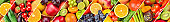 Set of vegetables and fruits. Background.