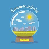 Summer solstice concept.