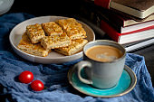 homemade corn flake and nut biscuit, at  coffee break