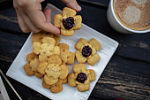 homemade butter biscuits and coffee break