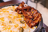 Korean Spicy  barbecue Pork Ribs with Cheese