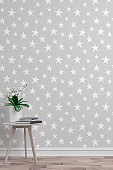 Empty wallpaper background with decoration