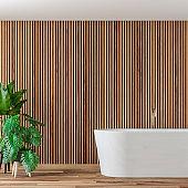Empty luxury modern bathroom interior stock photo